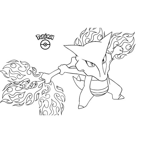 strong marowak pokemon coloring book