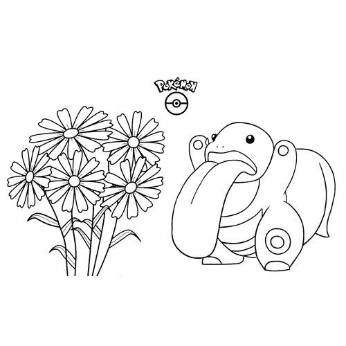 super funny lickitung pokemon coloring
