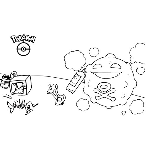 funny koffing pokemon coloring book