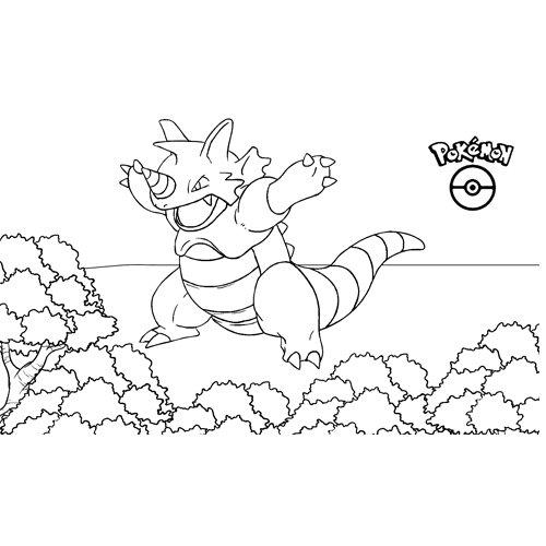 pokemon rhydon coloring book