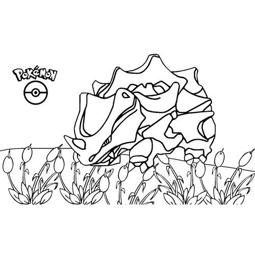 pokemon rhyhorn coloring book