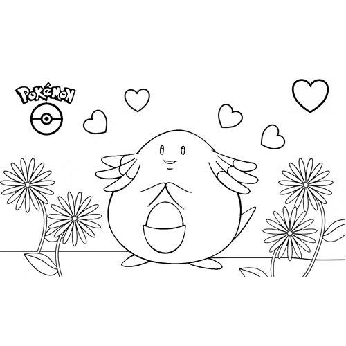 super cute chansey pokemon coloring book