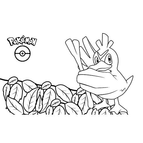 funny farfetchd pokemon coloring book