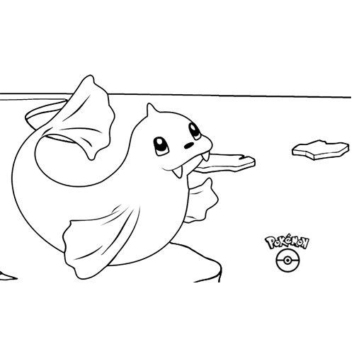 super cute dewgong pokemon coloring book