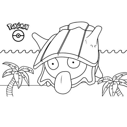 super funny shellder pokemon coloring book