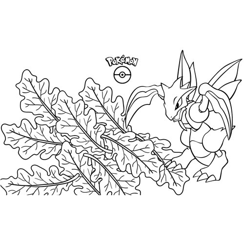 strong scyther pokemon coloring book