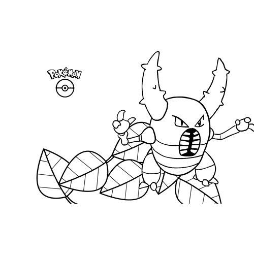 pokemon pinsir coloring book