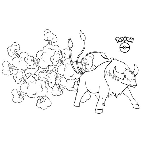 pokemon taurus coloring book