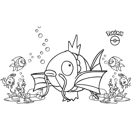funny magikarp pokemon coloring book