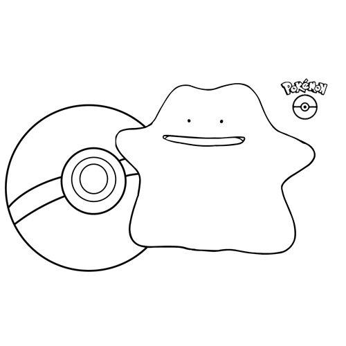 cute ditto pokemon colorng book