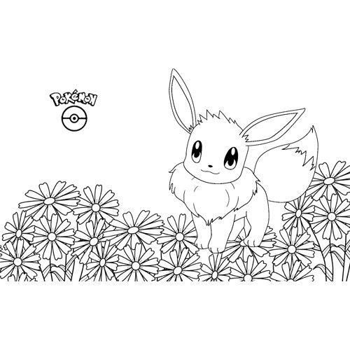 cute eevee pokemon coloring book