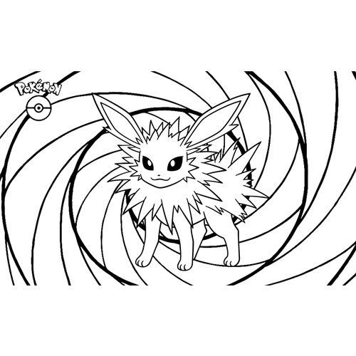 pokemon jolteon coloring book