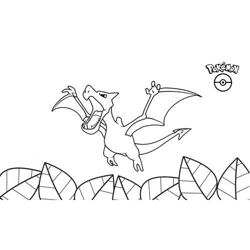 pokemon aerodactyl coloring book