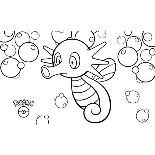cute horsea pokemon coloring book