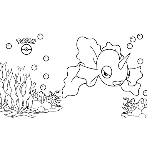 pokemon goldeen coloring book