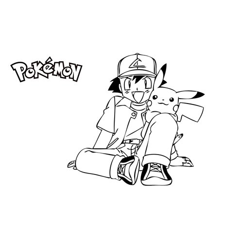 pikachu and ash coloring book