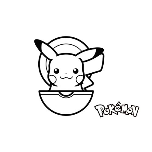 pikachu and pokeball coloring book