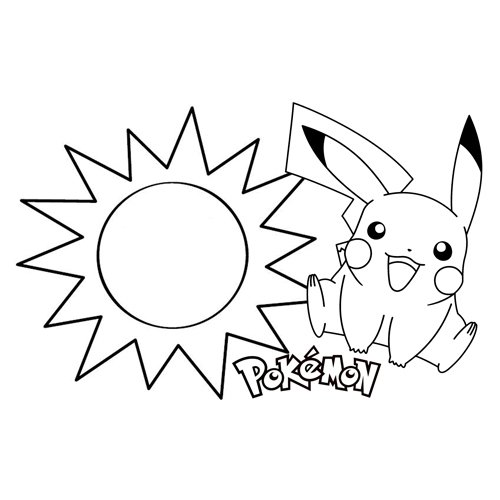 summer pikachu coloring book for kids
