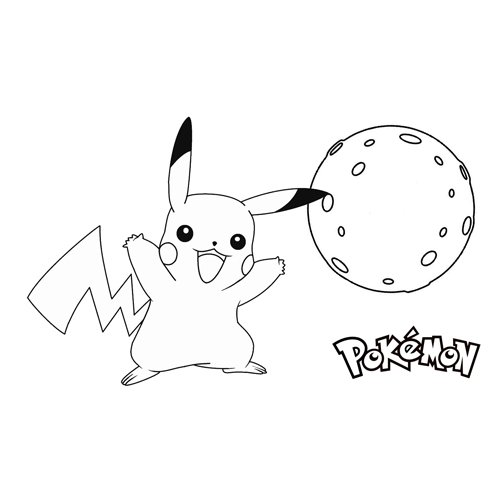 pikachu in the moon coloring book online