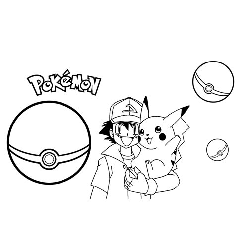 pikachu and ash friendship coloring book