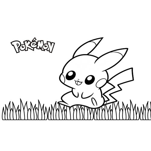 funny pikachu pokemon coloring book