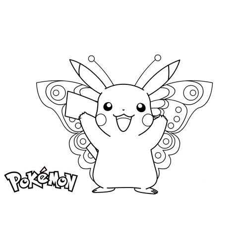 pikachu in the carnival coloring book online