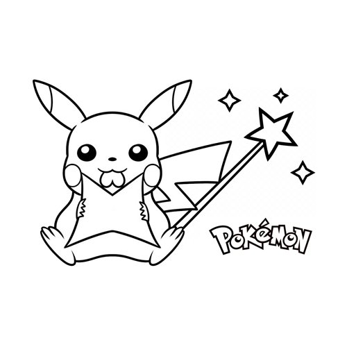 magic pikachu pokemon coloring book online