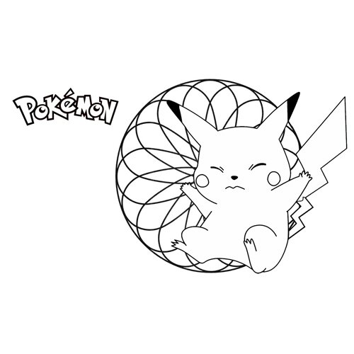 enigmatic pikachu pokemon coloring book