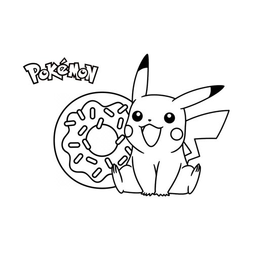 donuts pikachu pokemon coloring book