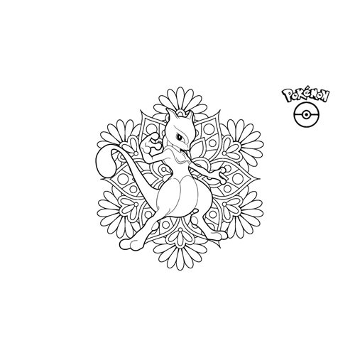 pokemon mewtwo coloring book online