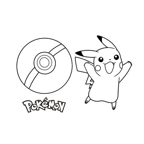 happy pikachu coloring book online