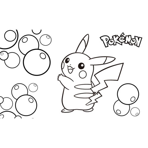 happy bubbles pikachu coloring book for kids