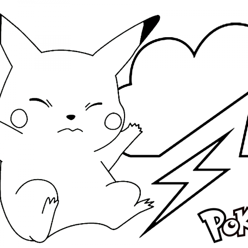 pikachu on the storm pokemon coloring book