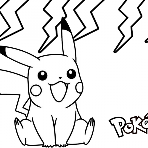 electric pikachu coloring book