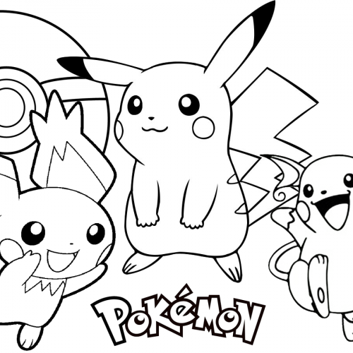 evolution pichu pikachu and raichu coloring book