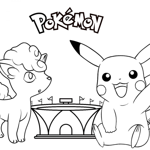 pikachu and vulpix pokemon coloring book