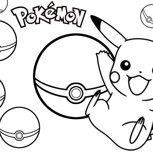 pikachu and the pokeball pokemon coloring book