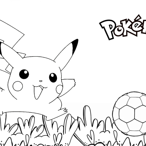 soccer pikachu pokemon coloring book