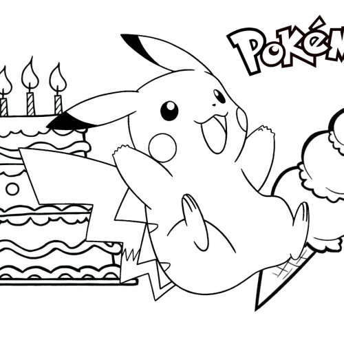pikachu birthday pokemon coloring book