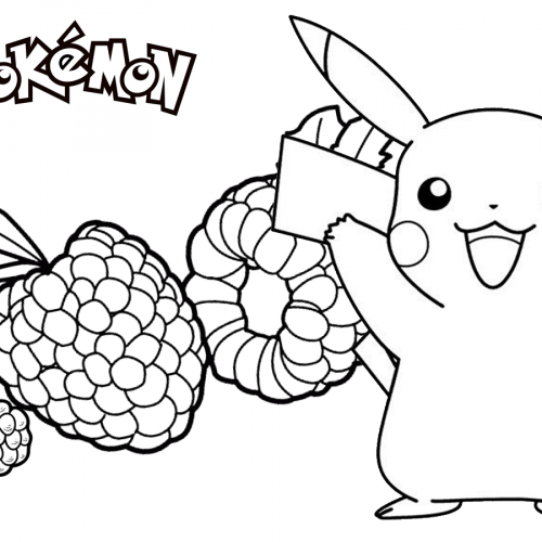hungry pikachu pokemon coloring book