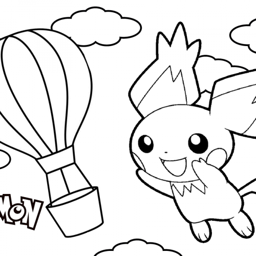 pichu in the air pokemon coloring book