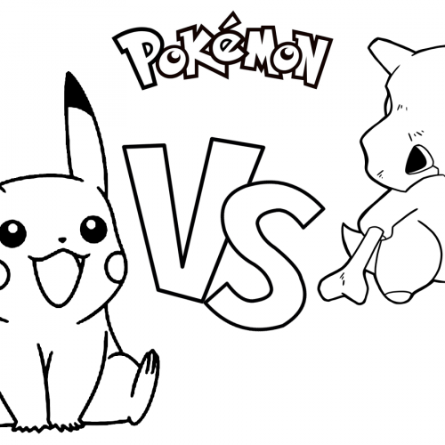 pikachu vs cubone pokemon coloring book