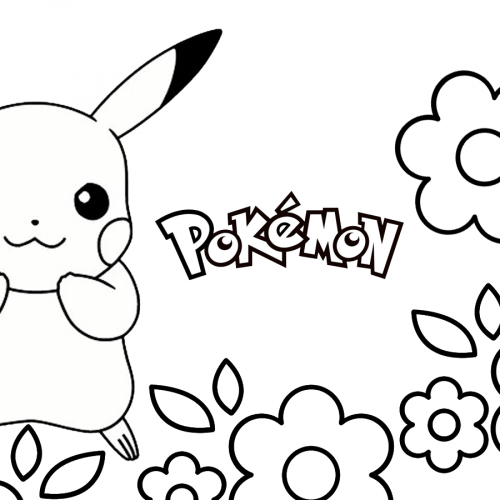 cute pikachu pokemon coloring book