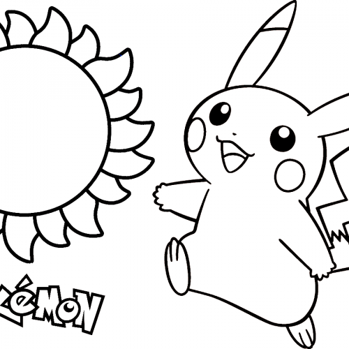 pikachu in the t sun pokemon coloring book
