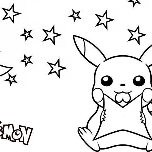 pikachu on the night pokemon coloring book