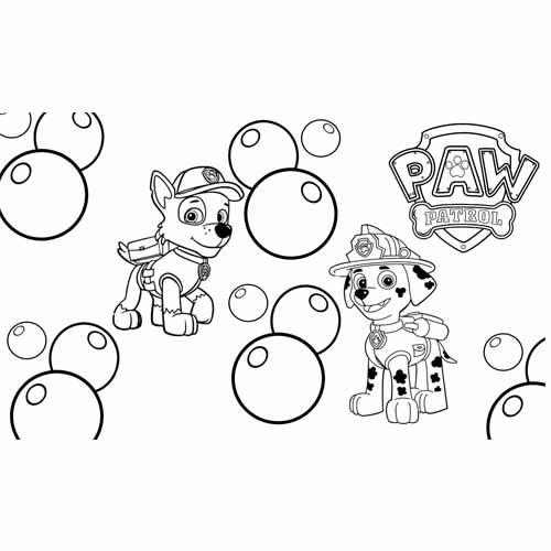 marschall and rocky paw patrol coloring book