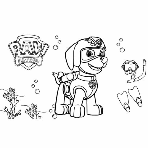 zuma in the bottom of the sea coloring book