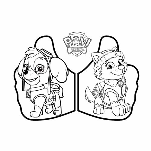 skye and everest paw patrol coloring book