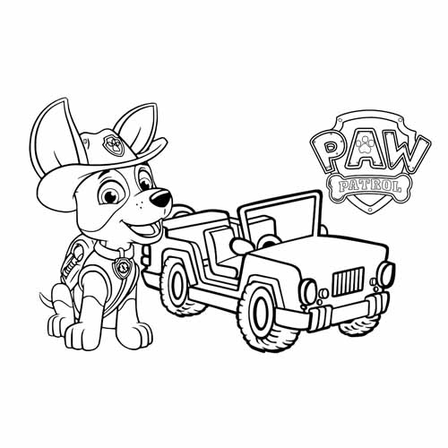 the tracker jeep paw patrol coloring book