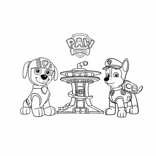 the command center paw patrol coloring book